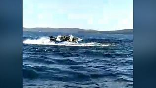 На Тургояке сняли на видео танец «бешеного» катера