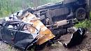«Хонду» разорвало на две половины на трассе в Челябинской области