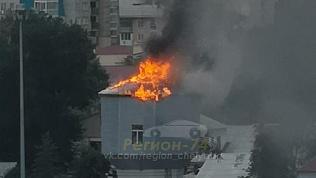 Молния ударила в водонапорную башню в Челябинске