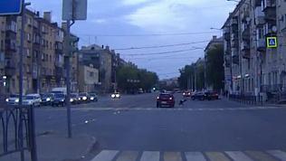 ДТП с пешеходом в Магнитогорске зафиксировал видеорегистратор