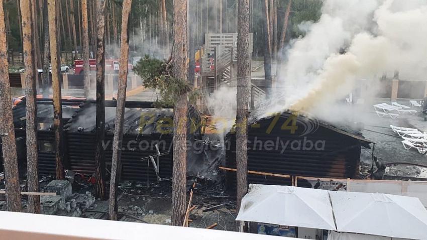 В термальном комплексе «Баден-Баден» под Челябинском произошел пожар