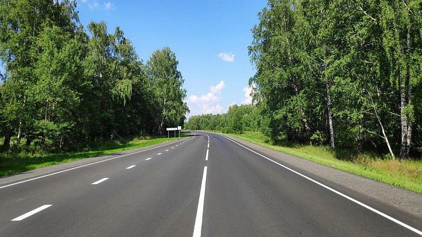 На дороге от Миасского до Шадринска проводится ремонт