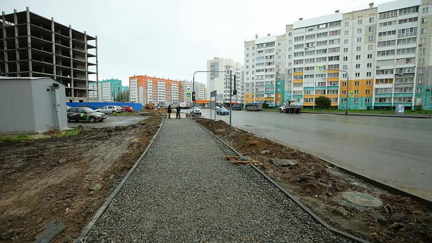 В микрорайоне «Парковый» создают инфраструктуру