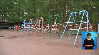 В парке Гагарина демонтируют качели