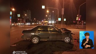 В Челябинске иномарка влетела в трамвай