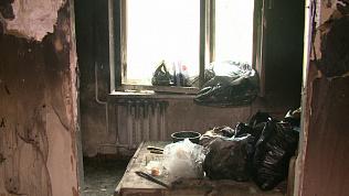 Крупный пожар в общежитии