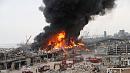 В порту Бейрута горит склад с покрышками и нефтью