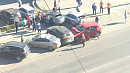Иномарка влетела в 4 машины в Ленинском районе Челябинска