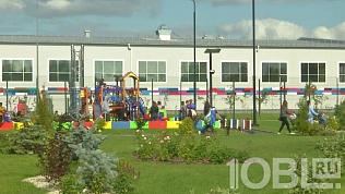 В Коркино открыли самую большую детскую площадку в Челябинской области
