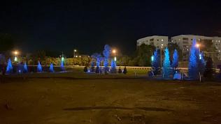 В Челябинске попали на видео светящиеся деревья