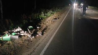 Лобовое с мотоциклом: видео последствий ДТП со смертельным исходом