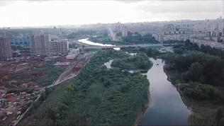 Видео реки Миасс после генеральной уборки с помощью экскаваторов