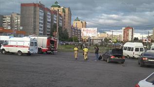 Пассажир выпал из маршрутки: видео аварии в Магнитогорске