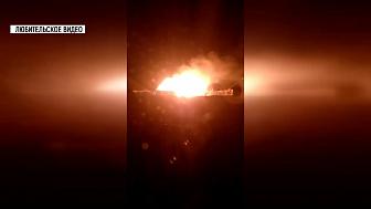 Пожар в посёлке Сыростан