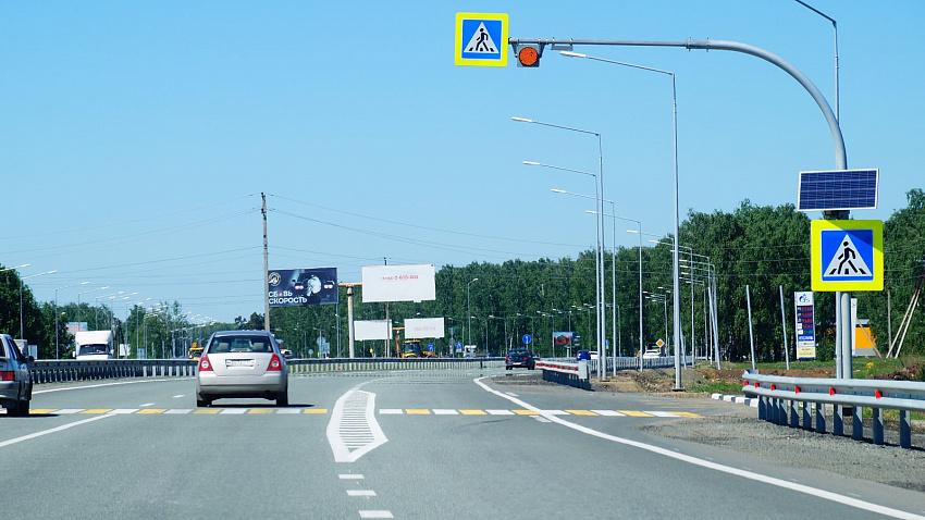 Новые фонари установили на участке дублера трассы М-5