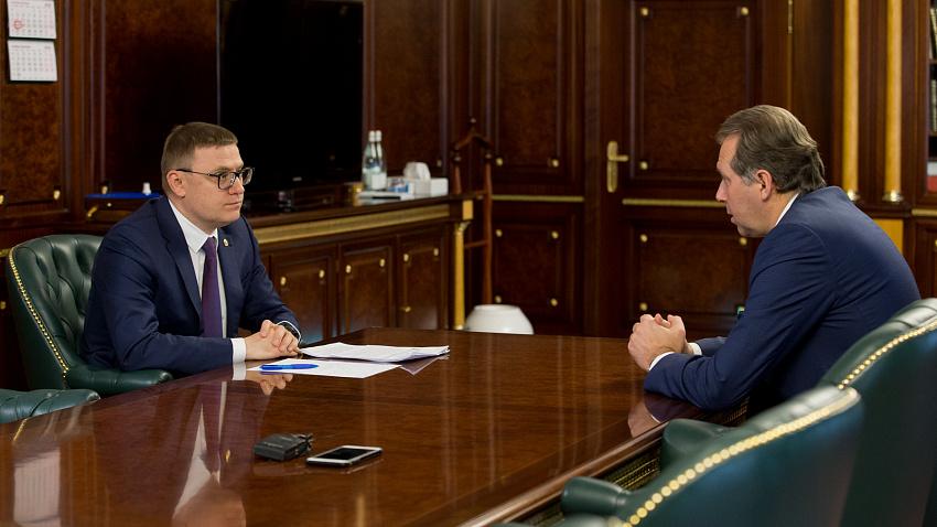 Губернатор Челябинской области провел встречу с гендиректором концерна «Уралвагонзавод»