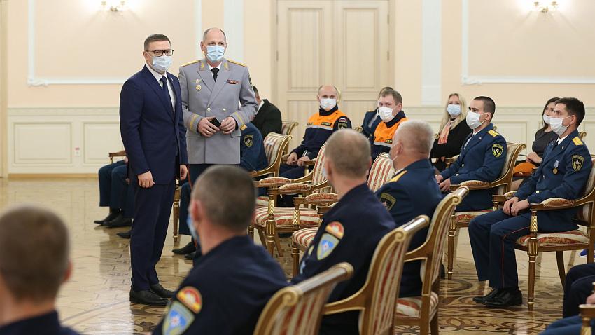 Алексей Текслер высоко оценил работу южноуральских спасателей