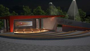 Амфитеатр с LED-экраном появится возле ЧелГУ