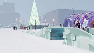Видео из будущего: инсталляция ледового городка 2021