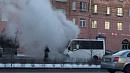 В центре Челябинска находу загорелась маршрутка