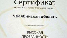 Челябинская область вошла в топ-15 рейтинга прозрачности госзакупок