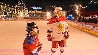 Девятилетний челябинец Дима Ащепков вышел налед сВладимиром Путиным