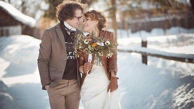 Наряд невесты зимой — особенности выбора
