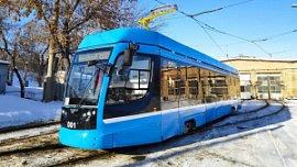 В Челябинске проводят испытания нового трамвая Усть-Катавского вагоностроительного завода