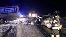 В Сосновском районе пристолкновении автобуса и иномарки погибла девушка