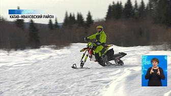 В селе Бедярыш прошёл тест-драйв снегоходов
