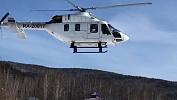 В Челябинск вертолетом санавиации доставили малыша спневмонией
