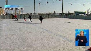 В посёлке Солнечный появится хоккейная коробка