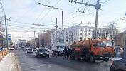 В Челябинске вовремя подземных работ провалилась проезжая часть