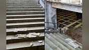 В Челябинске обрушилась облицовочная плитка вподземном переходе