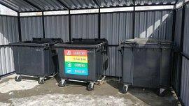 В челябинском поселке Шершни установили баки для раздельного сбора мусора